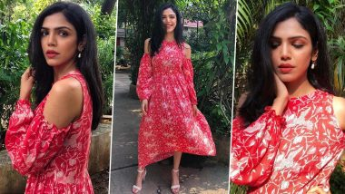 Shriya Pilgaonkar Is Wooing Us With Her Ruby Woo Cold Shoulder Cut Dress!