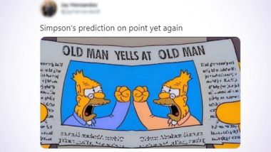 The Simpsons Prediction About US Presidential Debate 2020 is Not What It Looks Like! Know Truth About 'Old Man Yells At Old Man' Viral Image and Tweets