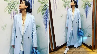 Sonam Kapoor Ahuja Is Sophisticated, Crisp and Beautiful in Pastel Blue!