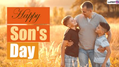 National Sons Day 2020 HD Images and Wallpapers for Free Download Online: WhatsApp Stickers, Facebook Messages, Quotes and Greetings to Send All Beloved Boys of The Family