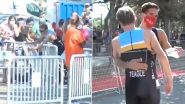 Spanish Triathlete Diego Méntriga Gives Spot to James Teagle Who Took the Wrong Turn During Santander Triathlon 2020, Receives Mixed Reactions on Twitter (Watch Video)