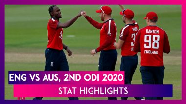 ENG vs AUS Stat Highlights, 2nd ODI 2020: Pacers Guide England To Dramatic Win