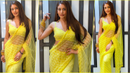 Naagin 5: Surbhi Chandna As Bani Flaunts Her Hot Navel in Sheer Yellow Saree, Check Out Her Sexy Pics