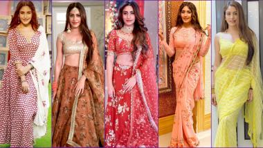 Surbhi Chandni AKA Naagin 5 Bani's Looks: From Red Lehenga to Yellow Saree, Indian Actress Flaunts It All (View HD Pics)