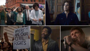The Trial Of The Chicago 7 Trailer: Sacha Baron Cohen, Eddie Redmayne, Yahya Abdul-Mateen II Impress in Aaron Sorkin's Political-Legal Drama (Watch Video)