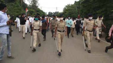 Farm Bills Protest: Chhattisgarh Congress Protests Against Centre's New Agriculture Laws