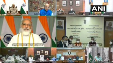 Governor's Conference on NEP 2020: PM Narendra Modi Says 'To Realise the Dream of Atmanirbhar Bharat, It is Very Important For the Youth to be Skillful'
