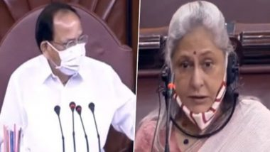 Jaya Bachchan Removes Mask Before Speaking in Parliament, Venkaiah Naidu Says 'Itna Sundar Acha Personality Aapko Dekhne ko Mil Raha Hain' to a Member Who Objects; Watch Video