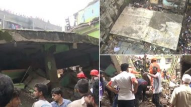 Bhiwandi Building Collapse: 10 Dead & Several Feared Trapped as 3-Storeyed Building Collapses in Patel Compound Area in Maharashtra