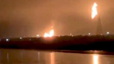 Fire at ONGC Plant in Surat: Fire Tenders Rush to Douse the Massive Blaze