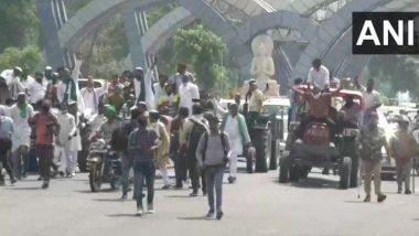 Bharat Bandh Updates: Members of Bhartiya Kisan Union Block Roads in Noida, Stage Protests Near Delhi Border Against Farm Bills, Traffic Diverted