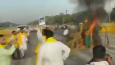 Tractor Set on Fire at India Gate Amid Protests By Farmers & Opposition Against Farm Laws; Watch Video