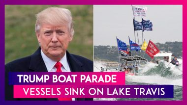 Trump Boat Parade: Vessels Sink During The Parade On Lake Travis In Texas; Donald Trump Supporters Rescued