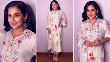 Vidya Balan Wearing a Chidiya Tunic With Tassels Is All Love!