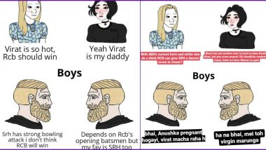 SRH vs RCB Meme Comparing Girls and Boys Discussing The IPL 2020 Game Gets a Befitting Reply From a Girl Calling Out The Stereotyping; Netizens Are Impressed