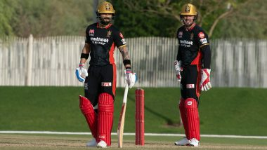 Dream11 IPL 2020: Ab de Villiers Smashes Quickfire 43 as Team Yuzvendra Chahal Beat Team Virat Kohli in RCB's Intra Squad Practice Match (Watch Highlights)