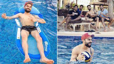 RCB Captain Virat Kohli Enjoys 'Proper Day at Pool' With Teammates Ahead of IPL 2020 (View Pics)