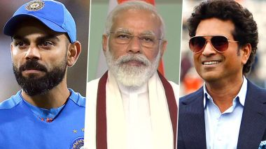 PM Narendra Modi 70th Birthday: Sachin Tendulkar, Virat Kohli, Suresh Raina Lead Cricket Fraternity in Wishing the Indian Prime Minister