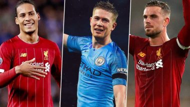 Kevin De Bruyne Named PFA Player of the Year: Liverpool Stars Virgil Van Dijk and Jordan Henderson Conguratulate Manchester City Footballer for the Award