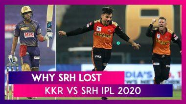 Kolkata vs Hyderabad IPL 2020: 3 Reasons Why Hyderabad Lost To Kolkata | Highlights