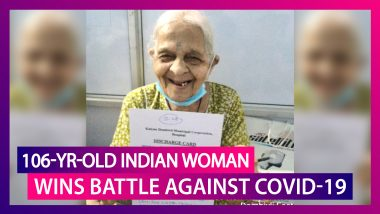 Anandibai Patil, 106-Year-Old Maharashtra Woman Wins Battle Against Coronavirus; India's COVID-19 Numbers Cross The 54 Lakh Mark