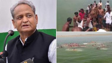 Rajasthan Boat Tragedy: CM Ashok Gehlot Announces Ex-Gratia of Rs 1 Lakh Each to Kin of People Who Died After Boat Capsized in Chambal River in Kota
