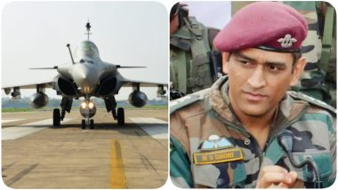 MS Dhoni Happy With the Induction of Rafale in IAF, CSK Captain Wishes Golden Arrows All the Best