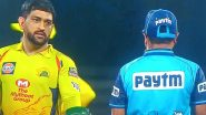 MS Dhoni Indulges in an On-Field Altercation With Umpire During RR vs CSK, Dream11 IPL 2020, Netizens Slam Captain Cool For the Behaviour (Watch Video)