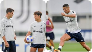 Paulo Dybala Joins Juventus After an Injury, Sweats it Out With Cristiano Ronaldo & Team Ahead of Serie A 2020-21 Game Against Roma (See Pics)