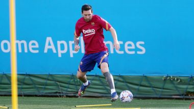 Lionel Messi Sweats It Out With Team Barcelona Ahead of Their La Liga 2020-21 Game Against Villarreal, Fans Feel 'Messi Looks Sad Without Luis Suarez'