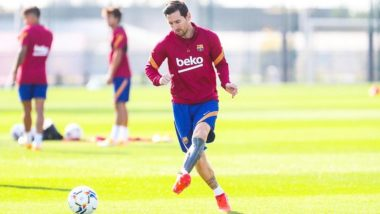 Lionel Messi Nets an Amazing Goal During Barcelona Practice Session, Fires Warning to Huesca (Watch Video)