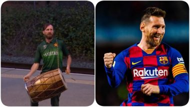 Lionel Messi Lookalike Spotted Playing Dhol, Supporting Pakistan Against England in 3rd T20I, Photo Goes Viral