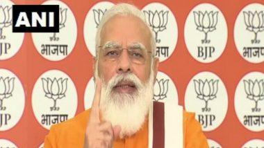 PM Narendra Modi, in Address to BJP Workers on Deendayal Upadhyaya Birth Anniversary, Says 'Bust Opposition's Propaganda' on Farm Bills