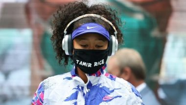 Naomi Osaka Wears Face Mask Emblazoned With Tamir Rice's Name Before US Open 2020 Final, Impresses Netizens as She Draws Attention To Racism (Watch Video)