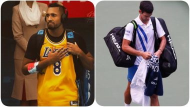 Nick Kyrgios Takes a Salty Jibe at Novak Djokovic, Labels Tennis Ace a 'Joker' After the Serbian Accidentally Hurls Ball At Lineswoman During US Open 2020