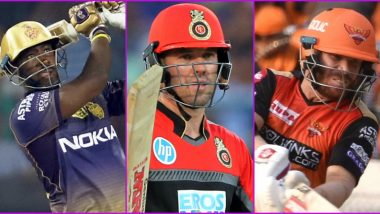 IPL 2020: Andre Russell, AB de Villiers, David Warner and Other Overseas Players to Watch Out for in Indian Premier League Season 13
