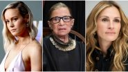 Ruth Bader Ginsburg No More: Julia Roberts, Brie Larson and Others Mourn the Loss of US Supreme Court Justice