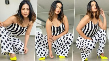 Hina Khan Matches Stripes With Polka Dots And The Result Is Classy!