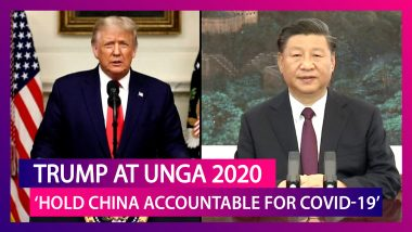Donald Trump At UNGA 2020: US President Urges United Nations To 'Hold China Accountable For COVID-19' As US-China Tensions Flare Over The Novel Virus