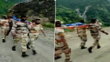 Uttarakhand: ITBP Jawans Carry Dead Body of Local for 8 Hours, Walk 25 Kms to Reach Munsyari From Pithoragarh; Watch Video