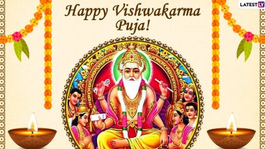 Happy Vishwakarma Puja 2020 Images & HD Wallpapers For Free Download Online: Celebrate Vishwakarma Jayanti With WhatsApp Stickers and GIF Greetings