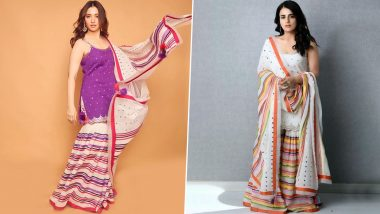 Fashion Faceoff: Tamannaah or Radhika Madan, Who Nailed this Sukriti & Aakriti Sharara Set Better? Vote Now