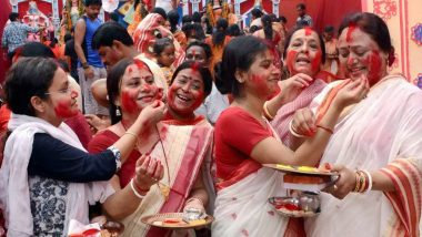 Sindoor Khela 2020 Date and Significance: What Is Sindur Khela? Know Everything About the Dashami Traditions and Rituals
