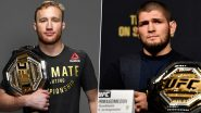 Khabib Nurmagomedov vs Justin Gaethje Live Streaming on SonyLiv Online: Watch Free Live Telecast of UFC 254 on TV in India