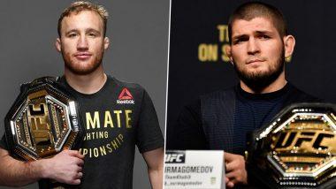 Khabib Nurmagomedov vs Justin Gaethje Live Streaming on SonyLiv Online: Watch Free Live Telecast of UFC 254 on TV in India