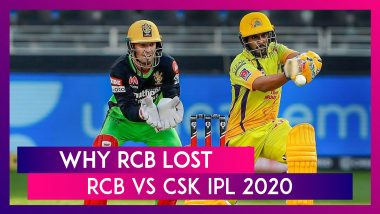 Bangalore vs Chennai IPL 2020: 3 Reasons Why Bangalore Lost To Chennai