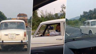 Video of Driverless Premier Padmini on a Highway Is Freaking Everyone Out! Netizens Wonder How the Vehicle Is Running on Its Own