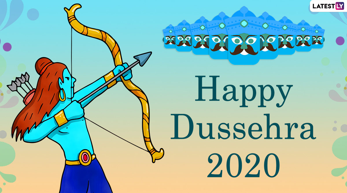 happy dussehra 2020 wishes images ravana dahan hd wallpapers for free download online celebrate vijayadashami with whatsapp stickers and gif greetings latestly happy dussehra 2020 wishes images