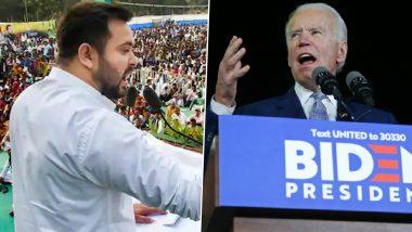 US, Bihar Elections 2020 Satta Matka Predictions: Satta Bazar Behind Joe Biden, Predicts Close RJD vs BJP Contest