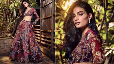 Lakme Fashion Week 2020: Athiya Shetty Turns Muse for Aisha Rao and her Stunning Red Lehenga Should be Bookmarked by all Millennial Brides-to-Be (View Pics)